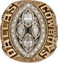 Football Collectibles:Others, 1993 Dallas Cowboys Super Bowl XXVIII Championship Ring Presented to Long Snapper Dale Hellestrae.. ...