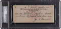 Boxing Collectibles:Autographs, 1944 Joe Louis Signed Check, PSA/DNA Authentic.. ...