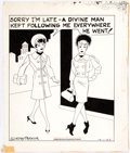 Gladys Parker Mopsy Daily Comic Strip Original Art dated 10-01-63 (Bell-McClure  Comic Art