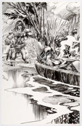 Original Comic Art:Splash Pages, Tom Grindberg - Conan Original Art Pin-Up (1994)....
