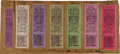 Baseball Collectibles:Tickets, 1927 Pittsburgh Pirates Game One Full Tickets Lot of Seven Used At Ticket Counter at Forbes Field. ...