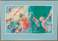 """1973 """"Champions of Golf"""" Multi-Signed Poster by LeRoy Neiman"""