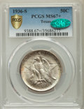 Commemorative Silver, 1936-S 50C Texas MS67+ PCGS. CAC. PCGS Population: (127/3 and 25/1+). NGC Census: (86/6 and 5/0+). CDN: $475 Whsle. Bid for...
