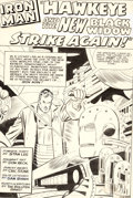 Original Comic Art:Splash Pages, Don Heck and Chic Stone Tales of Suspense #64 Splash Page 1 Iron Man Original Art (Marvel, 1965)....