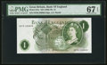 World Currency, Great Britain Bank of England £1 ND (1966-70) Pick 374e.. ...