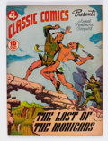 Golden Age (1938-1955):Classics Illustrated, Classic Comics #4 The Last of the Mohicans - First Edition(Gilberton, 1942) Condition: FN+....