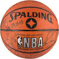 """1992 Barcelona Olympics USA Basketball """"Dream Team"""" First Ever Signed Basketball (Olympic number inscriptions..."""