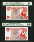 World Currency, Mauritius Bank of Mauritius 10 Rupees ND (1967) Pick 31a, TwoConsecutive Examples.. ... (Total: 2 notes)