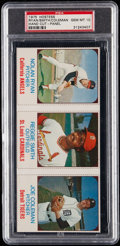 Baseball Cards:Singles (1970-Now), 1975 Hostess Nolan Ryan/Reggie Smith/Joe Coleman Uncut Panel (HandCut) PSA Gem Mint 10....