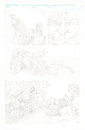 Aaron Lopresti  - X-Men Related Unpublished Page Original Art (1992) Comic Art