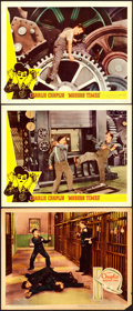 "Movie Posters:Comedy, Modern Times (United Artists, 1936/Lopert, R-1959). Lobby Cards (3)(11"" X 14"").. ... (Total: 3 Items)"