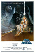 "Movie Posters:Science Fiction, Star Wars (20th Century Fox, 1977). Fist Printing One Sheet (27"" X41"") with Rating Box, Style A, Tom Jung Artwork.. ..."