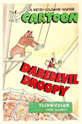 "Movie Posters:Animation, Daredevil Droopy (MGM, 1951). One Sheet (27"" X 41"").. ..."