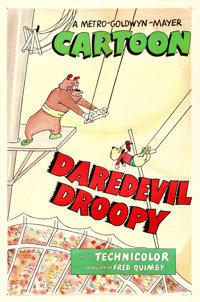 """Daredevil Droopy (MGM, 1951). One Sheet (27"""" X 41"""")"""