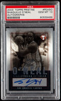 Basketball Cards:Singles (1980-Now), 2003 Topps Pristine Shaquille O'Neal Autograph #PEA-SO PSA Gem Mint 10....