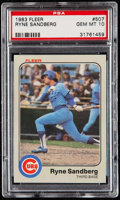Baseball Cards:Singles (1970-Now), 1983 Fleer Ryne Sandberg #507 PSA Gem Mint 10....