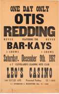 Music Memorabilia:Posters, Otis Redding Leo's Casino Concert Poster For His Last EverPerformances (1967). Extremely Rare.... (Total: 2 )