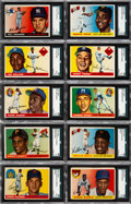 Baseball Cards:Lots, 1955 Topps Baseball SGC Graded Collection (10) - Includes Clemente& Killebrew Rookies....