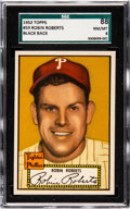 Baseball Cards:Singles (1950-1959), 1952 Topps Robin Roberts (Black Back) #59 SGC 88 NM/MT 8 - NoneHigher....