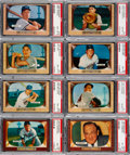 Baseball Cards:Lots, 1955 Bowman Baseball PSA Graded Collection (40)....