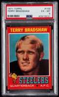 Baseball Cards:Singles (1970-Now), 1971 Topps Terry Bradshaw #156 PSA EX-MT 6....