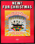 "Music Memorabilia:Posters, Beatles Large Capitol Records ""New! For Christmas"" MagicalMystery Tour Promotional Poster (US SMAL2835), ..."