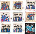 Music Memorabilia:Memorabilia, Beatles - Instant Collection of Nine All-Different Vintage Pillows, Eight are Licensed Examples from Nordic House (NEMS, 1964)...