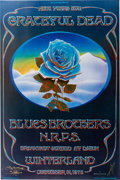 Music Memorabilia:Posters, Grateful Dead/Blues Brothers Winterland Blue Rose Concert Poster AOR-4.38 Signed By Artists Mouse and Kelley (Bill Graham, 197...