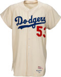 Baseball Collectibles:Uniforms, 1960 Don Drysdale Game Worn Los Angeles Dodgers Uniform, MEARS A9.5....