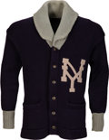 Baseball Collectibles:Uniforms, 1924 Whitey Witt Game Worn New York Yankees Team Sweater with Witt Letter....