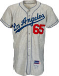 Baseball Collectibles:Uniforms, 1957 Rene Valdes Game Worn Brooklyn Dodgers Jersey....