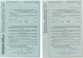 Music Memorabilia:Documents, Two Yardbirds Performance Contracts....