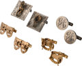 Movie/TV Memorabilia:Memorabilia, Gene Autry Owned Group of Silver and Gold Cufflinks.... (Total: 4 Items)