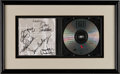 Music Memorabilia:Autographs and Signed Items, Eagles Signed Hell Freezes Over CD Display, Circa 1994....
