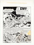 Alan Kupperberg - Unpublished 5-Page Story  A Stiff Penalty  Original Art (c. 19 Comic Art