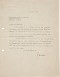 Autographs:Inventors, Albert Einstein Typed Letter Signed ...