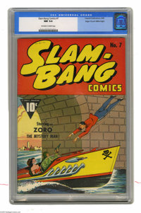 Slam-Bang Comics #7 Mile High pedigree (Fawcett, 1940) CGC NM 9.4 Off-white to white pages. This was the last issue of t...
