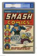 Golden Age (1938-1955):Superhero, Smash Comics #37 Mile High pedigree (Quality, 1942) CGC NM 9.4 Off-white pages. Doc Wackey is a mad scientist -- you never w...