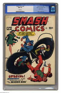 Smash Comics #43 Mile High pedigree (Quality, 1943) CGC NM 9.4 White pages. Lady Luck may not be able to get the attenti...