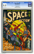 "Golden Age (1938-1955):Science Fiction, Space Action #1 (Ace, 1952) CGC VF 8.0 Off-white to white pages.This Gerber ""uncommon"" issue features Lou Cameron art. Over..."