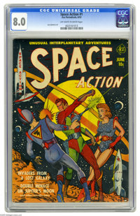 """Space Action #1 (Ace, 1952) CGC VF 8.0 Off-white to white pages. This Gerber """"uncommon"""" issue features Lou Cam..."""