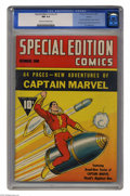 Golden Age (1938-1955):Superhero, Special Edition Comics #1 Denver pedigree (Fawcett, 1940) CGC NM 9.4 Cream to off-white pages. This is the first comic book ...