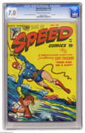 Golden Age (1938-1955):Superhero, Speed Comics #44 (Harvey, 1947) CGC FN/VF 7.0 Cream to off-white pages. Last issue of the title. Rudy Palais cover. Joe Kube...