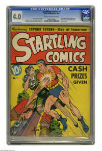 Startling Comics #1 (Better Publications, 1940) CGC VG 4.0 Cream to off-white pages. Captain Future, the Man of Tomorrow...