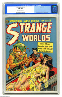 Strange Worlds #5 (Avon, 1951) CGC NM- 9.2 Off-white to white pages. This is the nicest copy we've ever seen of this iss...