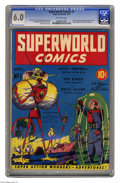 Golden Age (1938-1955):Science Fiction, Superworld Comics #1 (Hugo Gernsback, 1940) CGC FN 6.0 Off-whitepages. This comic, edited by a big name in science fiction,...