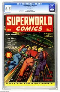 Superworld Comics #2 (Hugo Gernsback, 1940) CGC FN+ 6.5 Off-white pages. This is the scarcest of the three Superworld is...