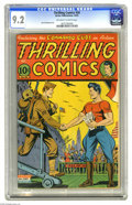 Golden Age (1938-1955):Superhero, Thrilling Comics #50 (Better Publications, 1945) CGC NM- 9.2 Off-white to white pages. Patriotic covers don't get much more ...