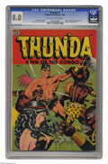 Golden Age (1938-1955):Adventure, Thun'da #1 (Magazine Enterprises, 1952) CGC VF 8.0 Off-white to white pages. How many comic books would you guess were drawn...