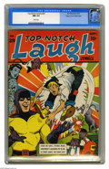 Golden Age (1938-1955):Superhero, Top-Notch Laugh Comics #29 Mile High pedigree (MLJ, 1942) CGC NM 9.4 White pages. This is one of the more bizarre hybrids we...